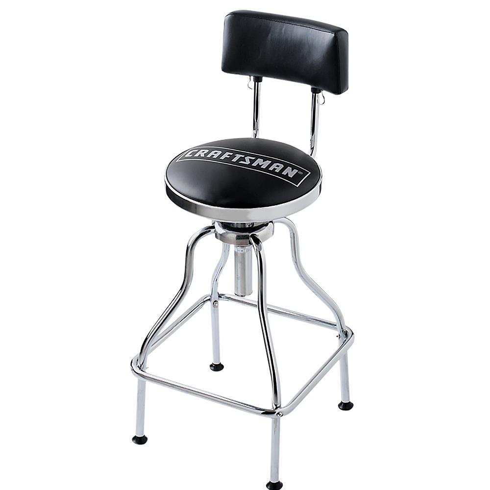 Craftsman Adjustable Hydraulic Seat - Black $49.99