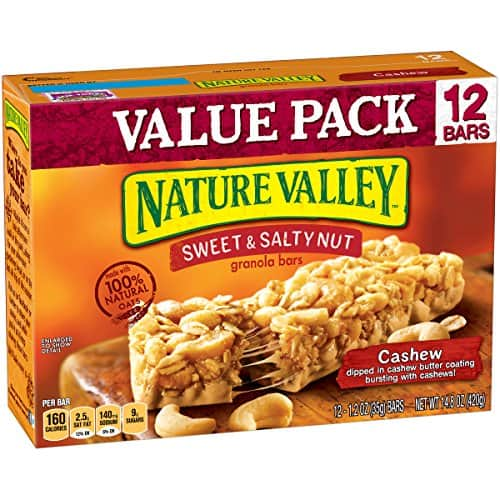 Nature Valley Granola Bars, Sweet & Salty Nut, Cashew, 12 Bars, 1.2 oz [Cashew] $2.75