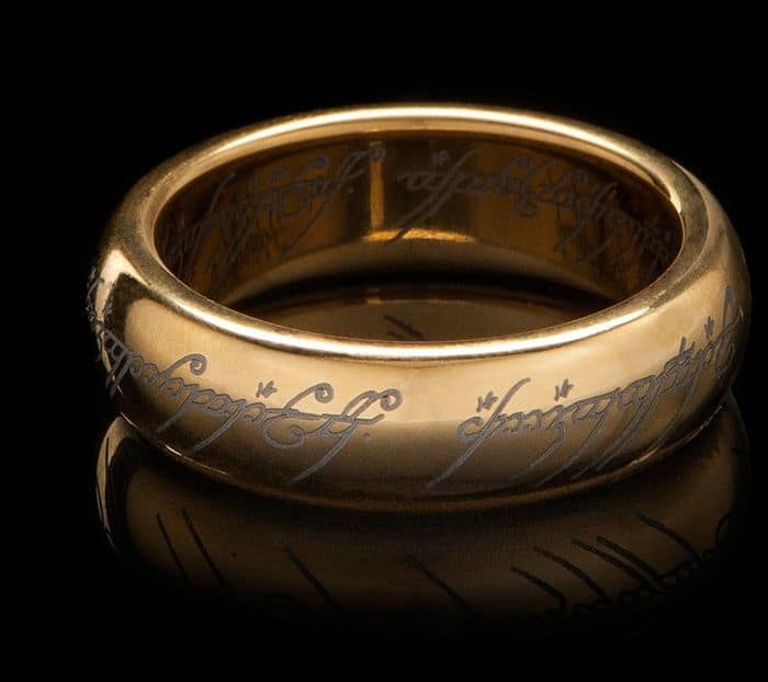 LotR The One Ring -Gold Plated Tungsten by Weta Workshop @ Barnes and Noble $24.99