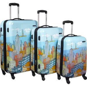 """Samsonite CityScapes NYC 3 Piece Set 20""""24""""28"""" for $199.99 + Free Shipping"""