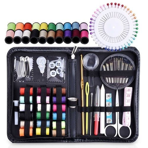 Sewing Kit for Home Office Travel and Emergency [Black] $10.99