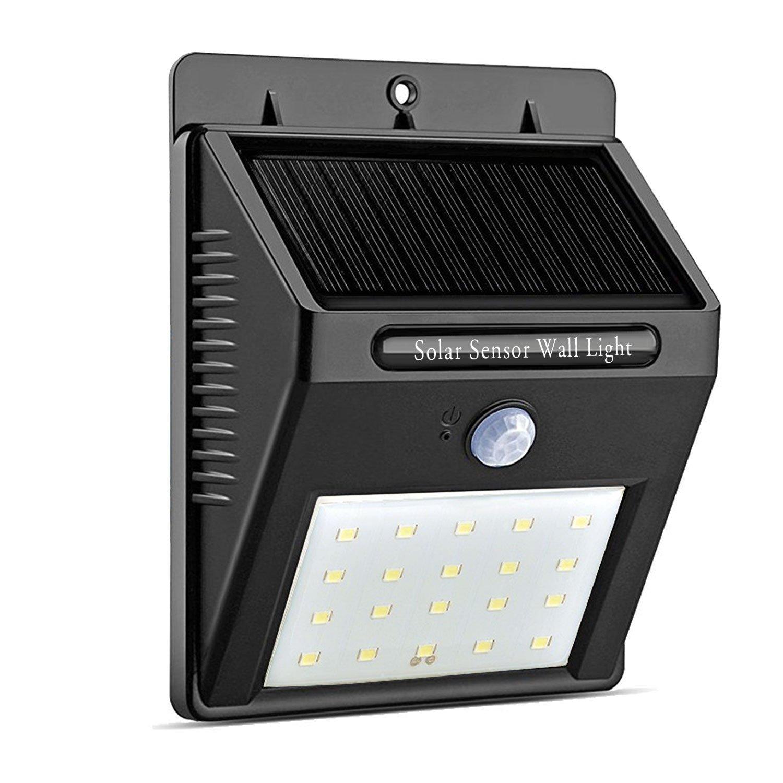 Solar Lights Outdoor 20 LED With Motion Sensor Wall Lights Deck Lights for $7.66