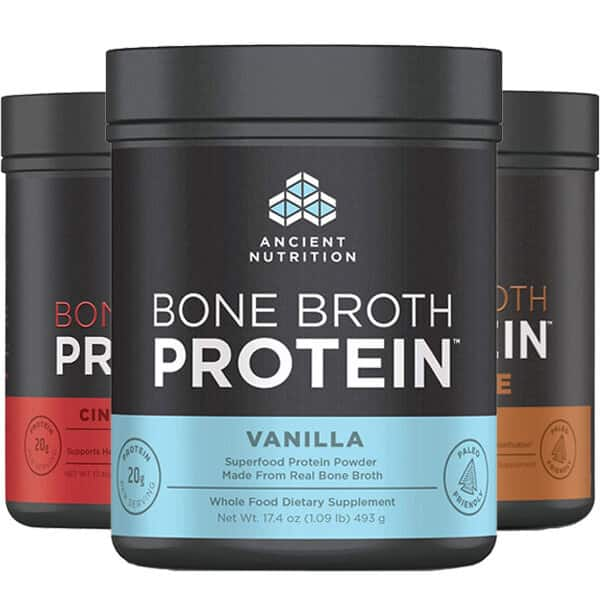 1-Lb Ancient Nutrition Bone Broth Protein (5 flavors) 3 for $30 ($10 each) + $6 shipping