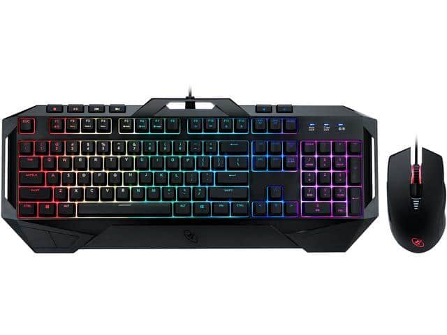 Rosewill Fusion C40 RGB Mem-chanical Gaming Keyboard and Mouse Combo $29.99 plus free shipping at Newegg