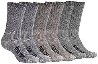 6 Pairs FUN TOES Premium Merino Wool Socks Outdoor Hiking Trail Crew Socks $19.97 After code @amazon