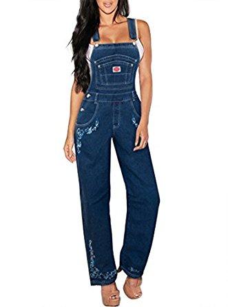 Revolt Jeans Women's Plus Size Denim Bib Overalls for $14.99
