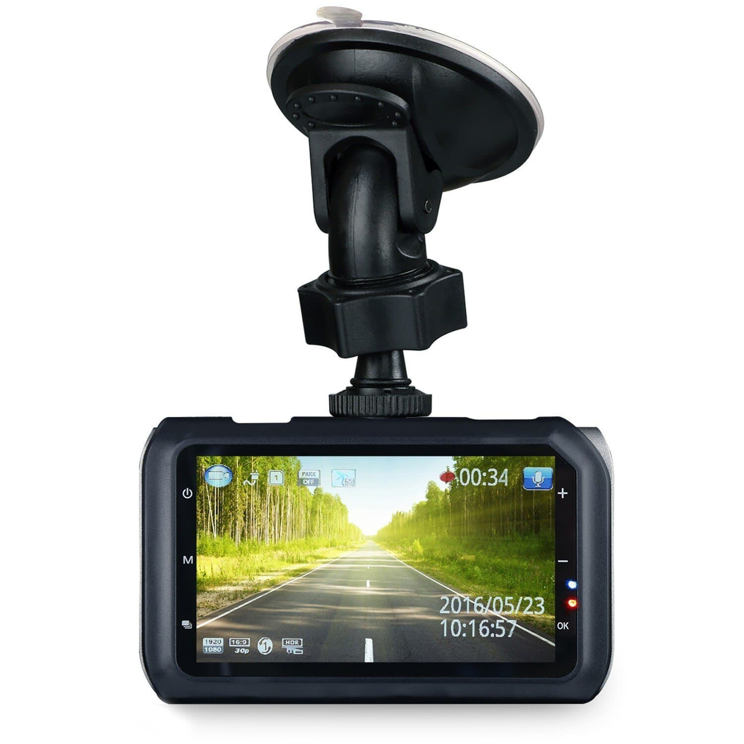 Z-Edge Z3 Ultra HD 2560 x1080 Car Dash Camera 145 Deg Wide Angle Lens w/ Ambarella Chip 32GB SD Card WDR Enhanced Night Vision, G-Sensor, Parking Monitor - $79.99 AC+FS