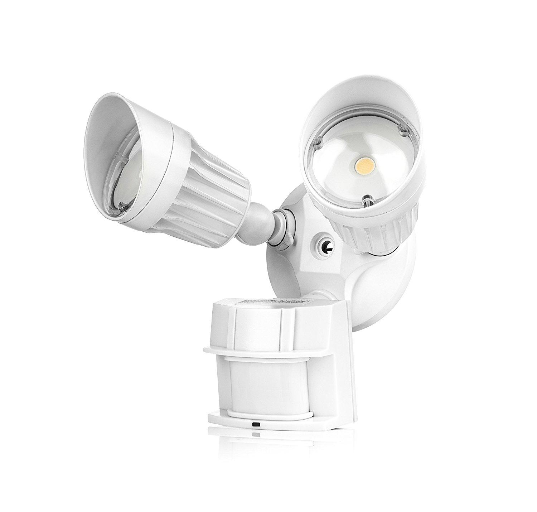 30% Off 2 Head White Security Outdoor Motion Sensor Light, 1800lm 5000K (Crystal White Glow) Waterproof IP65 UL - $27.97