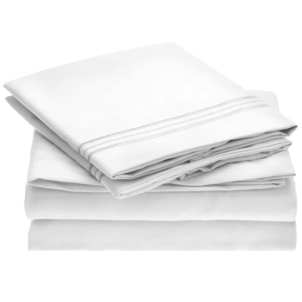4 Piece Ideal Linens Bed Sheet Set - 1800 Double Brushed Microfiber Bedding $12.97