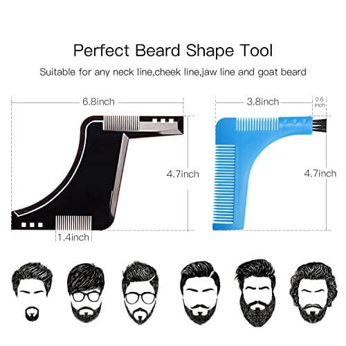 Beard Style Tool Shaping Comb ULG Template Shaper Edging Beards Facial Hair Trimmer for Jaw Line Cheek Neck and Goatee Styling $4.89