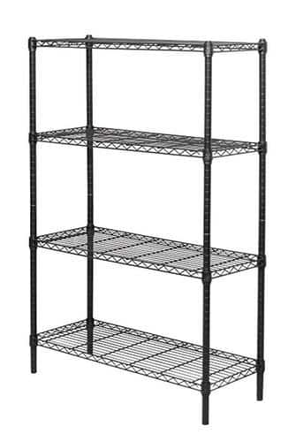 "54"" 4-Shelf Black Wire Shelving Unit $24.99 ($22.24 AR) B&M/YMMV"