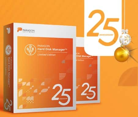 FREE - Paragon Hard Disk Manager 25th Aniversary Limited Edition