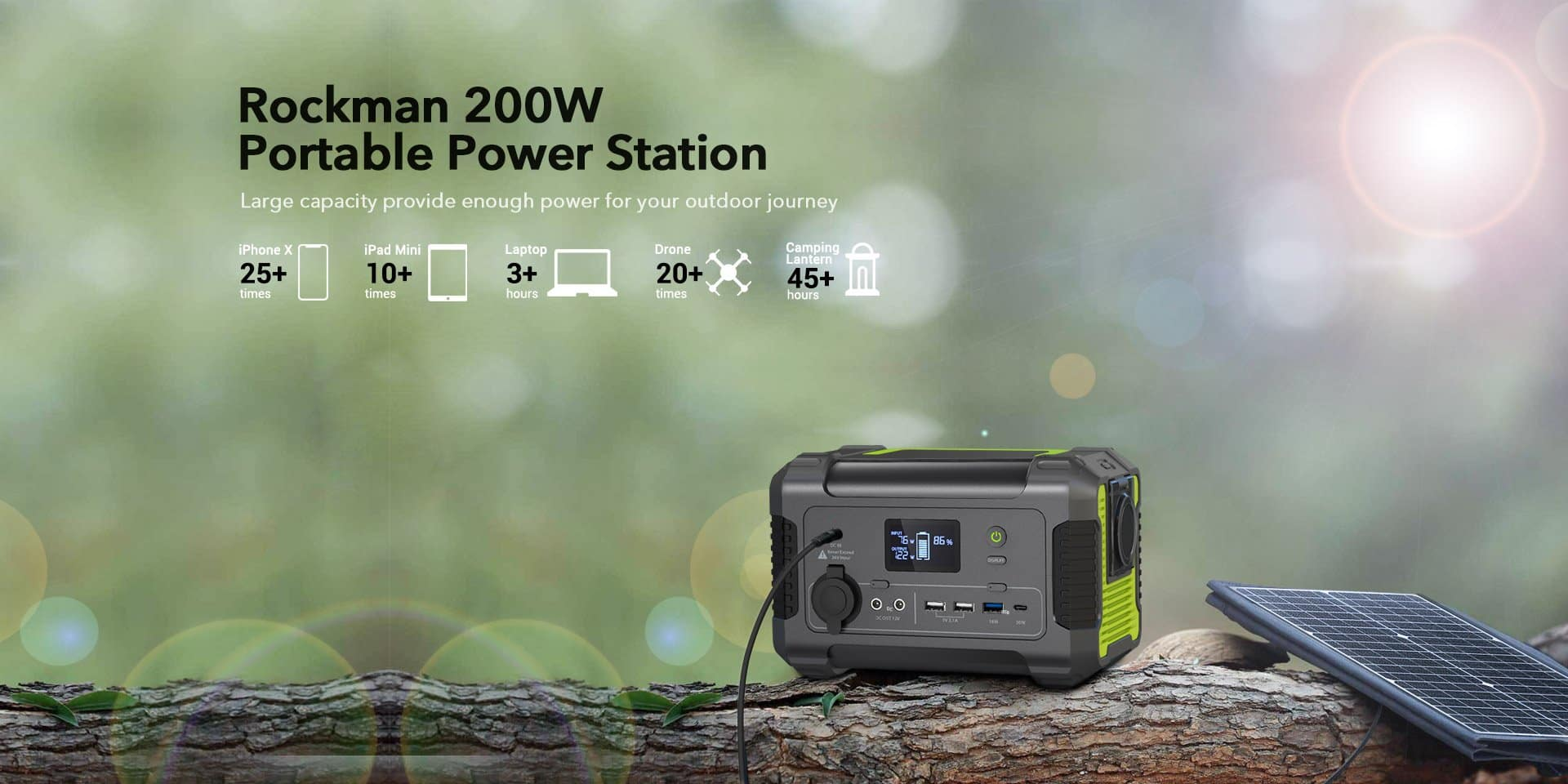 Rockman 200W Portable Power Station - $139 delivered after coupon code: SAVE40