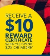 My Best Buy members: Get a $10 reward certificate when you spend $25 or more in stores or online. (YMMV)
