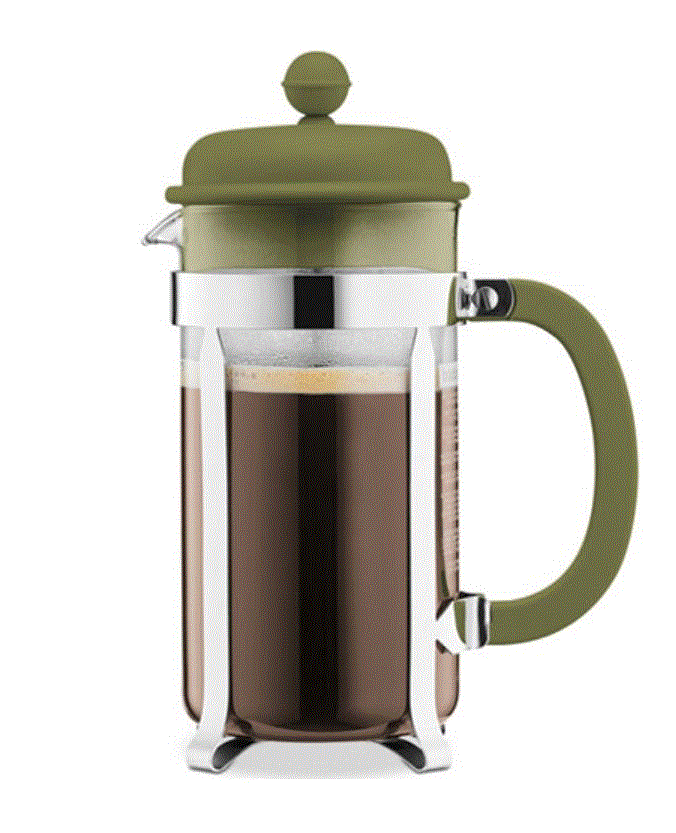 Macy's Bodum 8 cup French Press $10.49 after 30% off Coupon Green and Orange