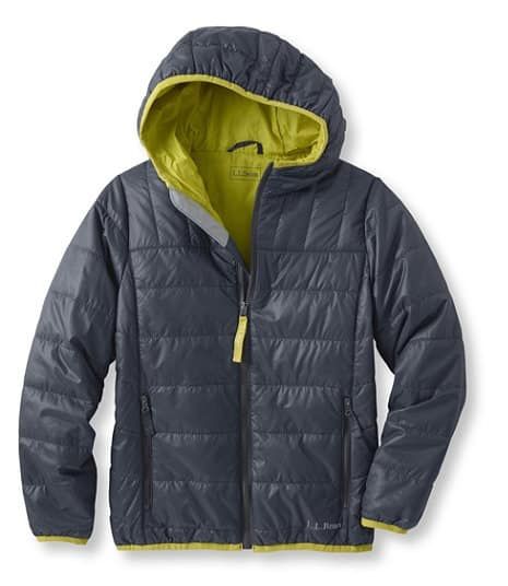 L.L.Bean Boy's hooded Puff-n-Stuff Jackets $29.99 and up, Ultralight 650 Down jackets $39.99 and up + FREE Shipping.