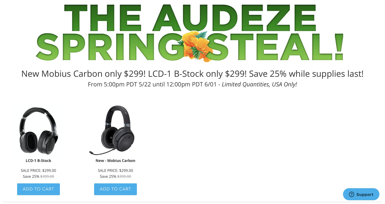 Audeze Mobius & Audeze LCD-1 - B STOCK - ($100 off) $299
