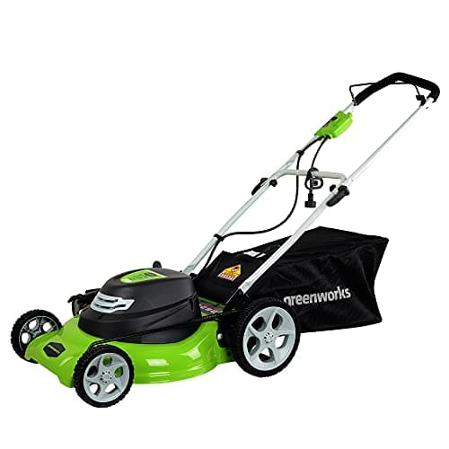Greenworks 25022 12 Amp 20-Inch 3-in-1 Electric Corded Lawn Mower $99.99