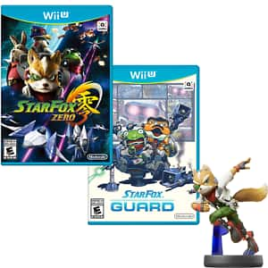 Star Fox Zero + Star Fox Guard + Fox amiibo Bundle (Wii U) $24.99