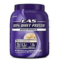 Amazon Deal: 5 lbs. EAS 100% Whey Protein $31.84 shipped (vanilla);  ~$30 (chocolate) shipped @ Amazon