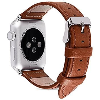 38mm & 42mm Leather Replacement Band for Apple Watches (various colors) $8.31 @ Amazon