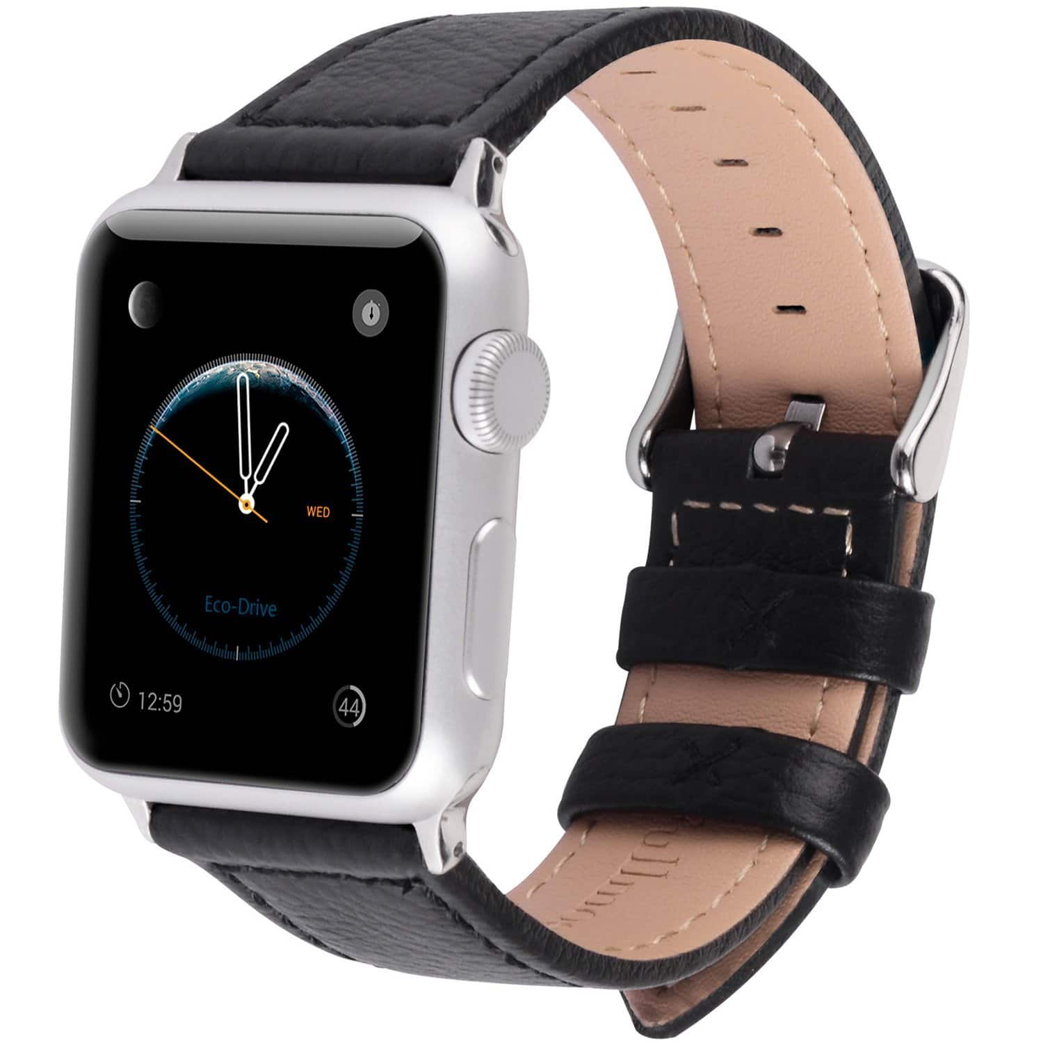 Leather Apple Watch Replacement Bands 38mm & 42 mm (5 Color Choices) 50% OFF = $7.99 @ Amazon