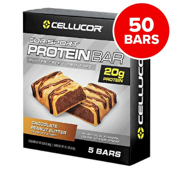 50 Count Cellucor CorSport Protein Bars (Various Flavors) $27.89 @ Supplement Hunt