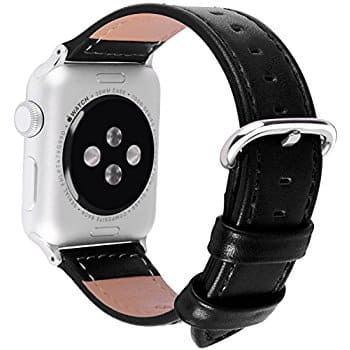 Leather Apple Watch Replacement Bands (38&42 mm) 5 color choices $7 @ Amazon $7.03