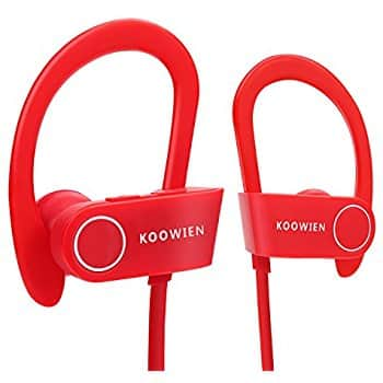 Red Bluetooth Earbuds with Mic $8.99 @ Amazon