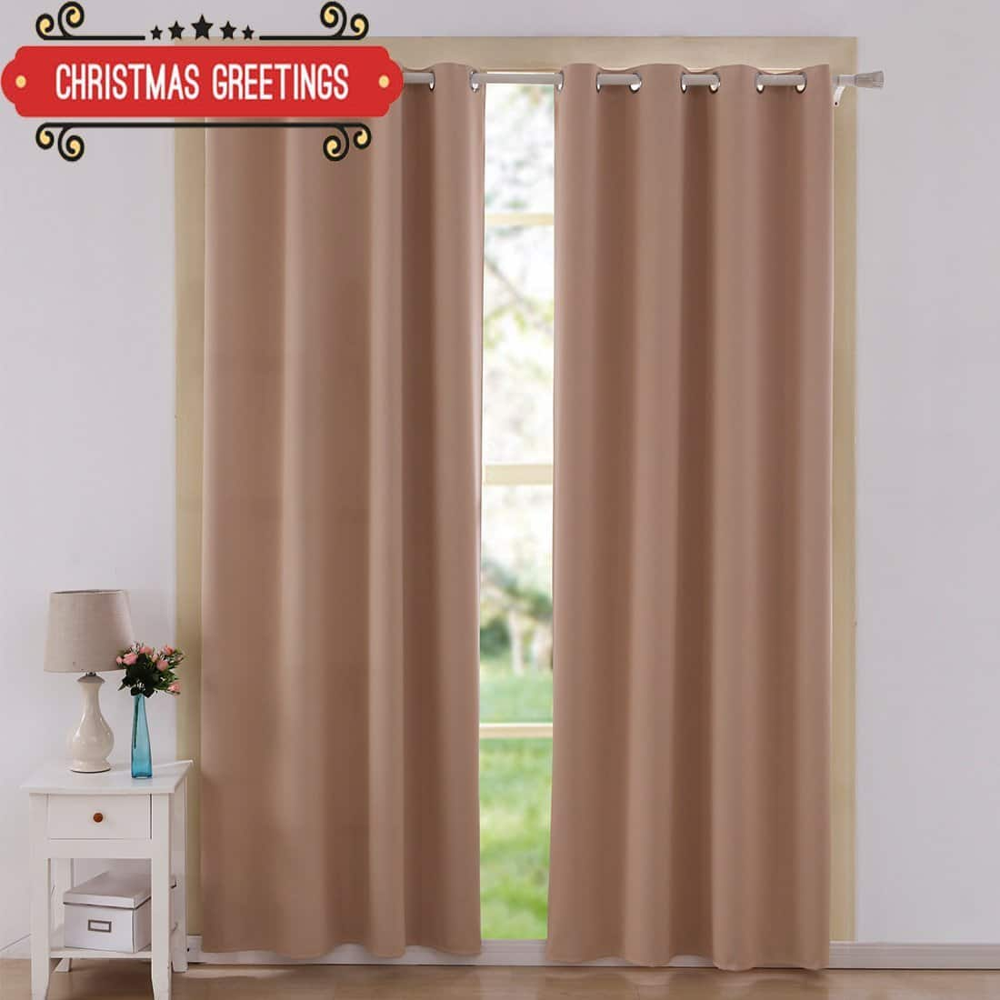 Thermal Insulated Drapes/Blackout Curtains - 2 panels/3 sizes/9 colors $15.90 @ Amazon