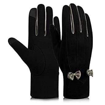 Women's Winter Touch Screen Gloves (Black or Wine Red) $4.49 @ Amazon