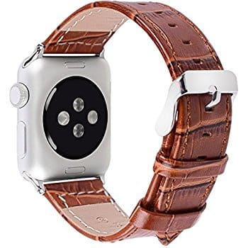 Apple Watch Leather Replacement Bands 38 & 42 mm for $5.59 @ Amazon