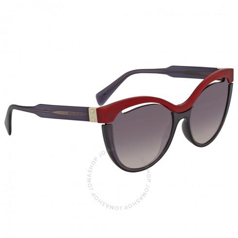 MIU MIU Pink Gradient Dark Violet Cat Eye Sunglasses $79.99