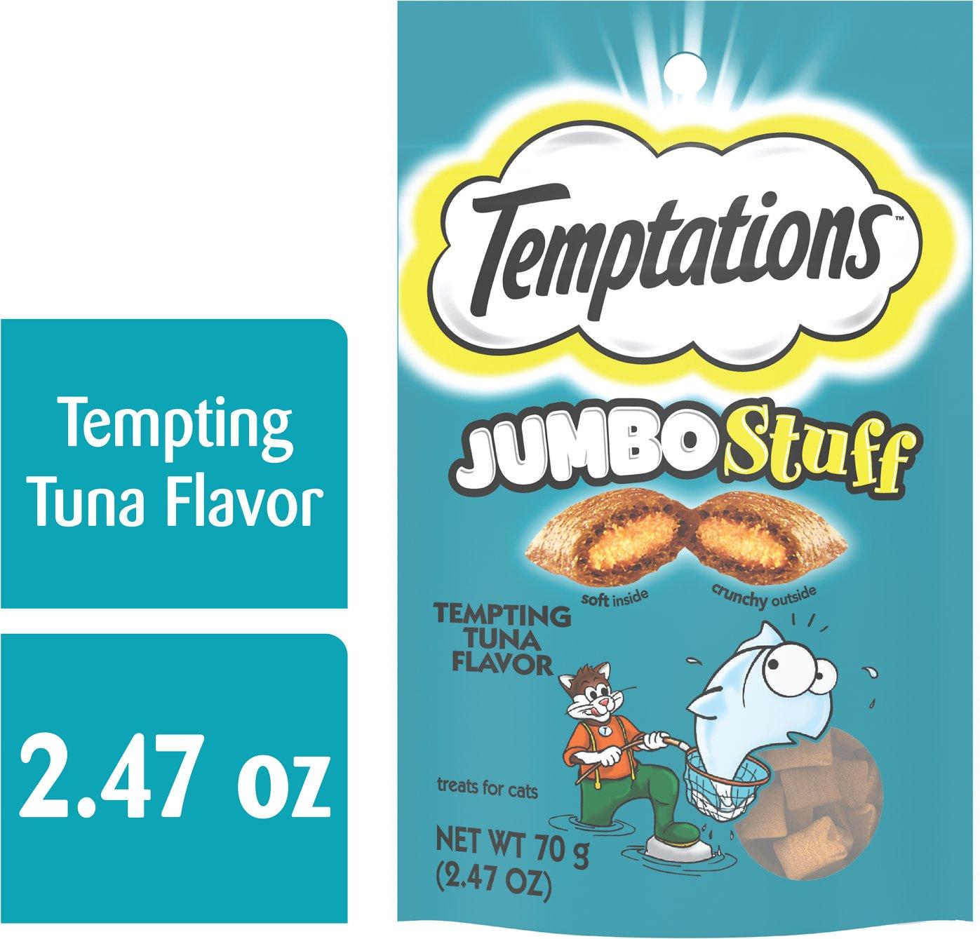 Chewy has temptations cat treats on sale 2.5oz/bag $0.25