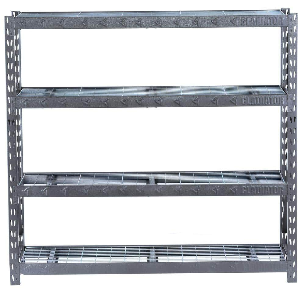 "Gladiator 4-Shelf Welded 77"" X 72"" x 24"" Steel Shelving Unit (8000lb Capacity) $139.99 + Free Store Pick-up"