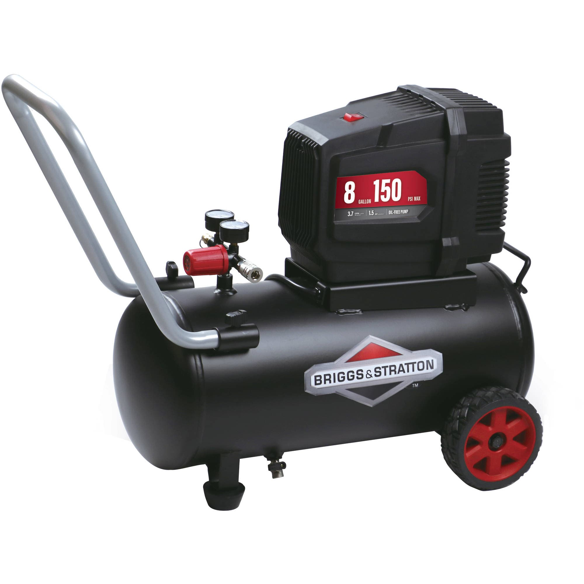 Briggs & Stratton 8 Gallon Hotdog Oil-free Air Compressor as low as $45 YMMV