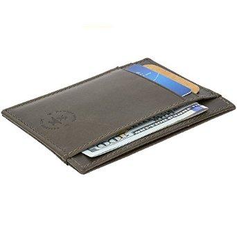 Hammer Anvil Leather Minimalist Front Pocket Wallet RFID SAFE $9.99 @ Amazon