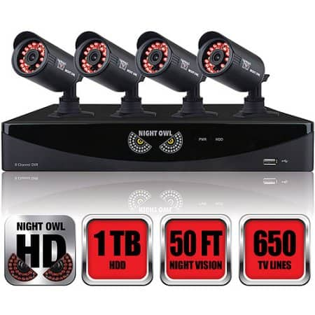 Night Owl 960H Video Security System with 1TB DVR - Four Cameras with Night Vision - Walmart B&M Only YMMV - $99