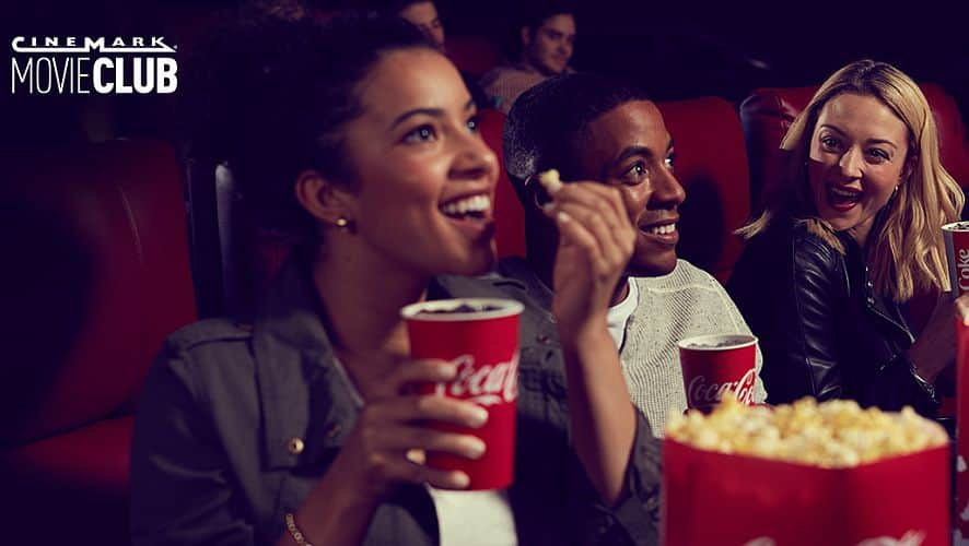 One Free Month of Cinemark Movie Club w/ Coke Product Code