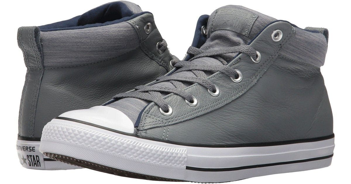 1720fd55a43 Converse Chuck Taylor All Star Street Mid Leather Sneakers $28 ...