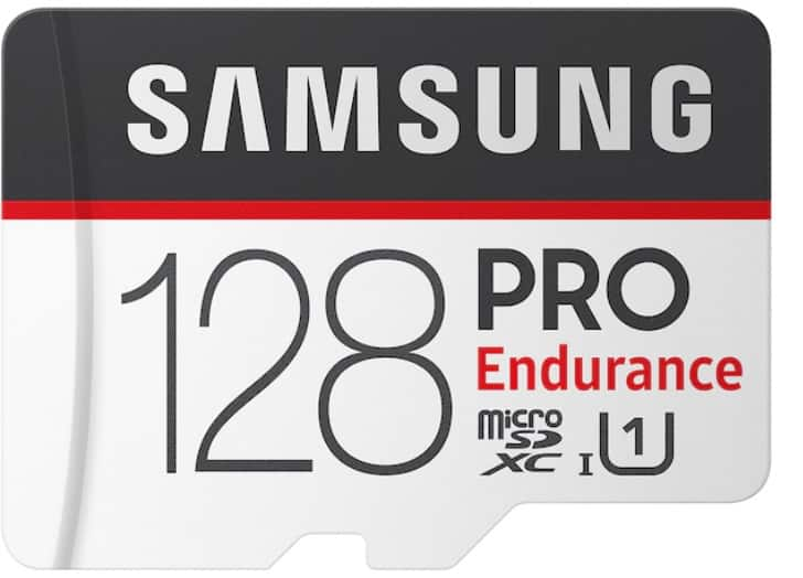 Samsung PRO Endurance microSD Card. 128GB, 64GB, 32GB with EDU/EPP $18.99