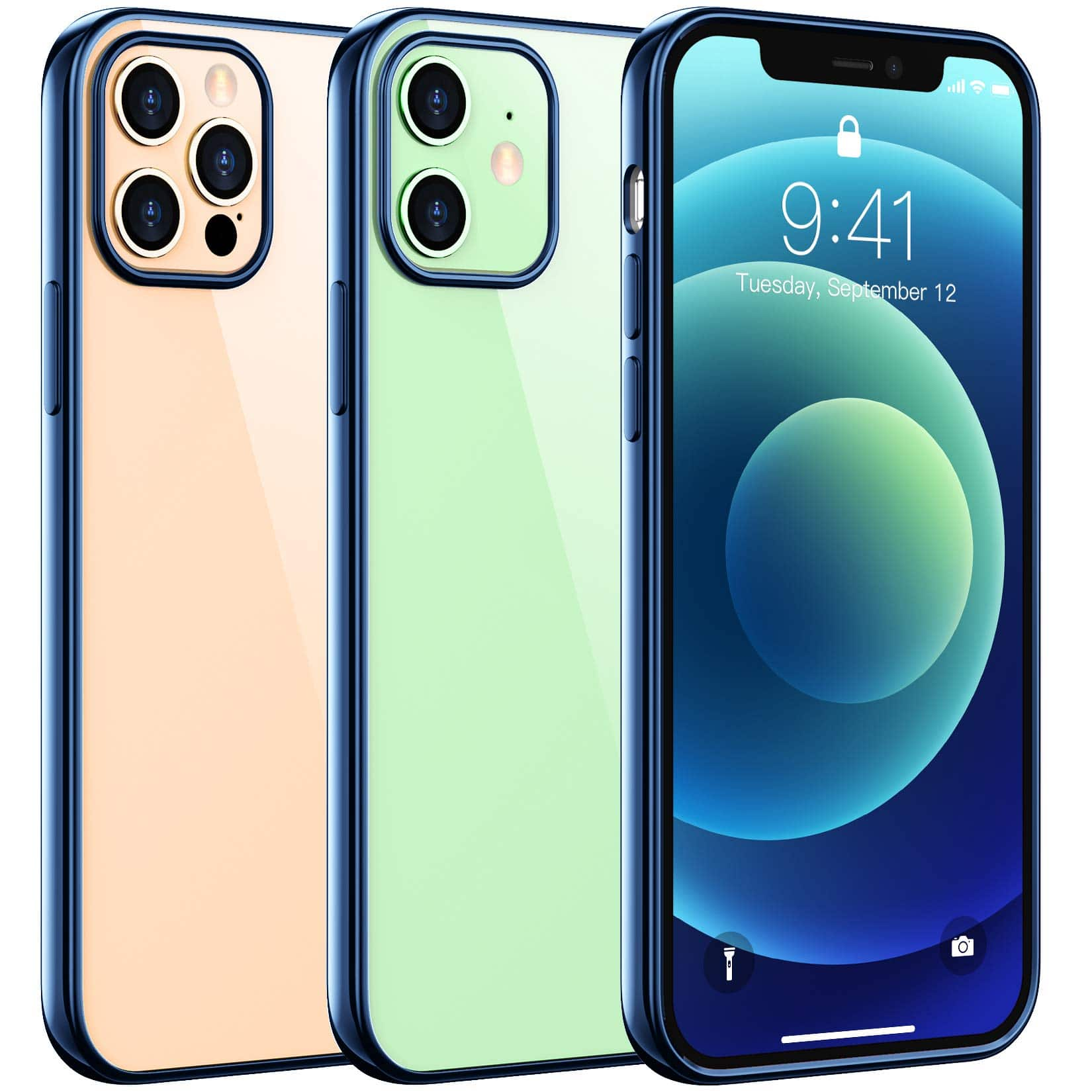 Clear Case Compatible with iPhone 12/ 12 Pro / Support wireless charging (Color - Clear) $0.99 +  free S&H w/ Prime members at Amazon