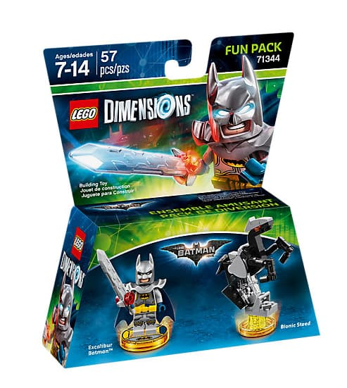 Lego Dimensions Fun Packs $7.49, Level Packs $14.99, Story Pack ...