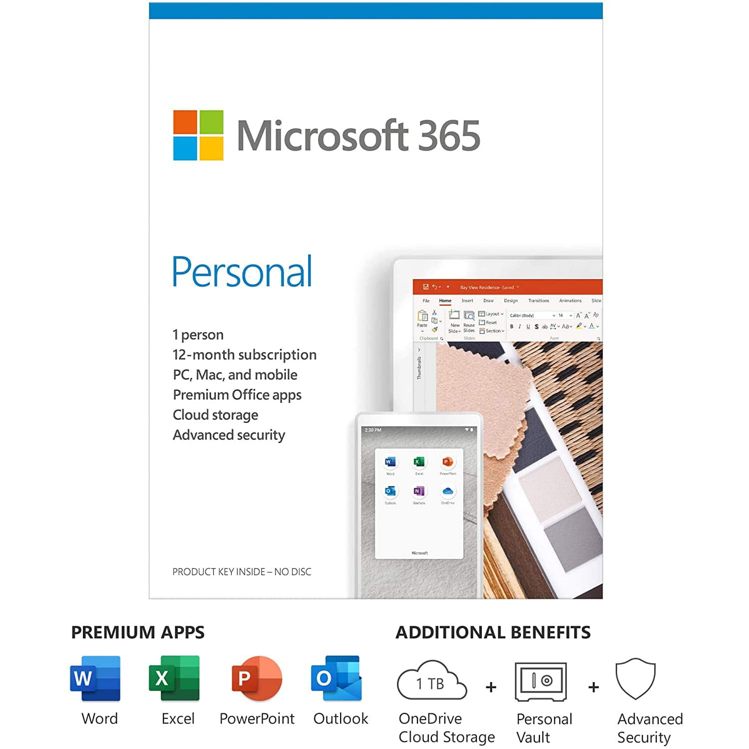 Microsoft Office 365 1-Year / 1-User Personal Subscription (PC / Mac) - ($49.99)