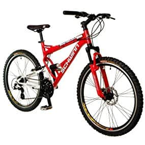 Schwinn Protocol 1.0 Men's Dual-Suspension Mountain Bike (26-Inch Wheels, Red) $185
