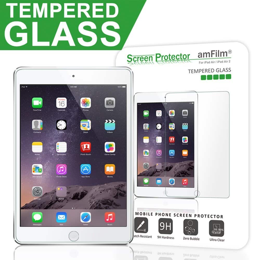 iPad Pro 9.7 /iPad Air / Air 2 Glass Screen Protector $5.99 from amFilm on amazon after coupon
