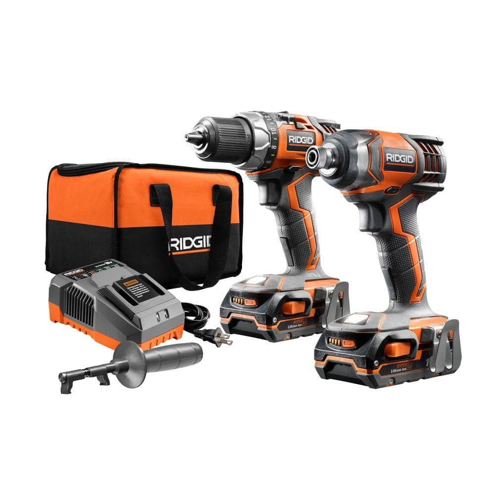 YMMV RIDGID 18-Volt X4 Lithium-Ion Cordless Drill/Driver and Impact Driver 2-Tool Combo Kit w/(2) 1.5Ah Batteries, Charger and Bag $119