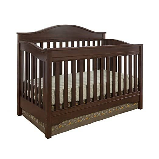PRIME MEMBERS: Solid Wood Eddie Bauer Langley Convertible Crib in Walnut - $133.99 AC + Free Shipping - Amazon