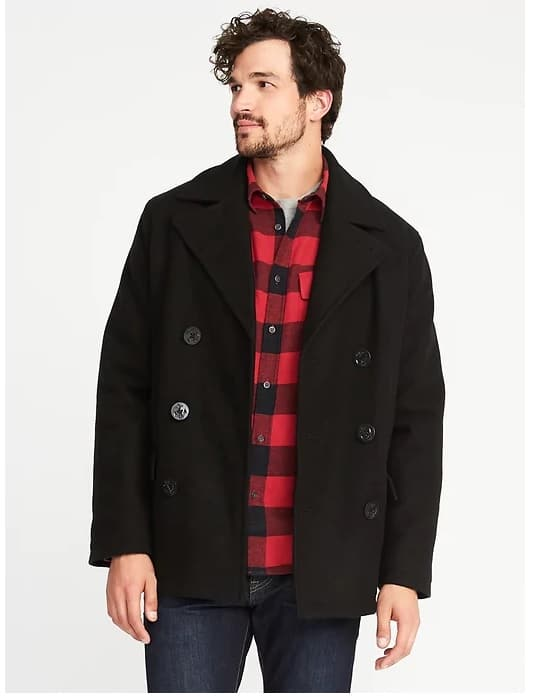 Insulated-Stretch Peacoat for Men - Old Navy - Half off + 30% checkout today only $35