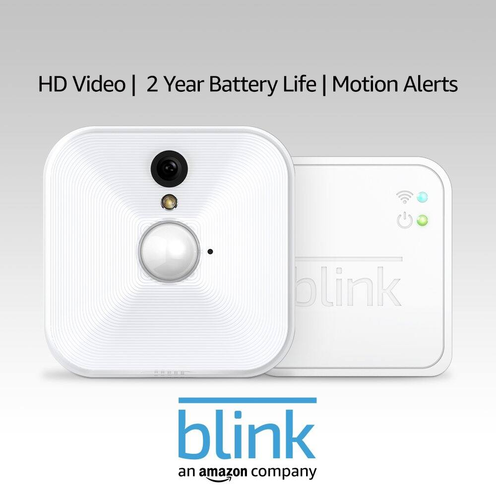 Blink Indoor Home Security Camera System with Motion Detection, HD Video, 2-Year Battery Life and Cloud Storage Included - 1 Camera Kit [Indoor 1 Camera System] $63.99